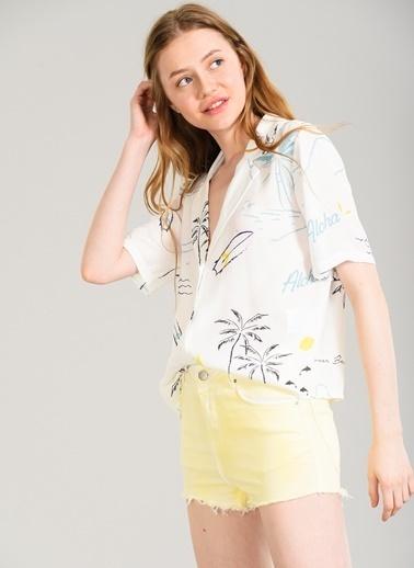 Tropik Desenli Gömlek-Agenda